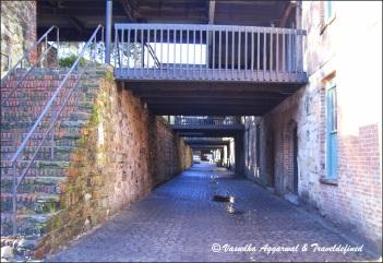 Alleys behind the street